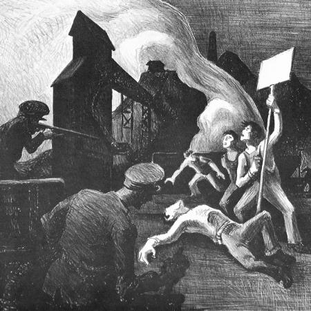 Thomas Hart Benton, Strike lithograph