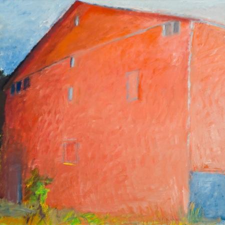 Wolf Kahn, Red Barn