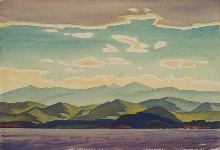 Emil Bisttram, Taos Mountains