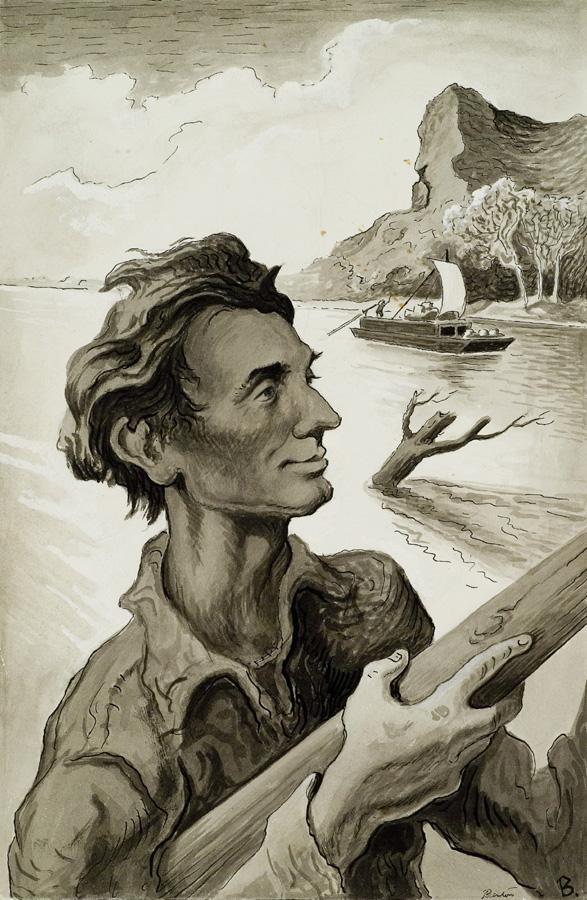 Benton, Young Abe Lincoln