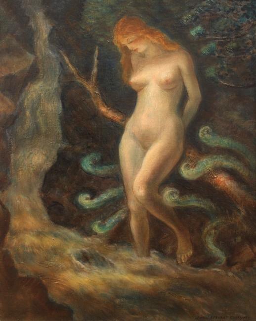 Nude in a Waterfall