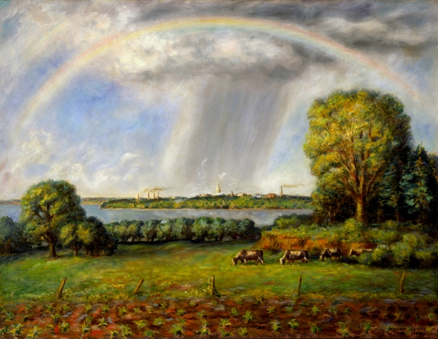 Rainbow and View of Madison