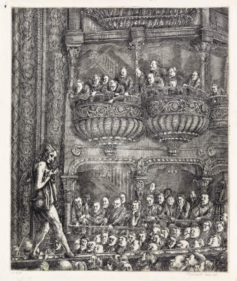 Gaiety Burlesque by Reginald Marsh